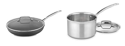 Cuisinart Non-stick skillet and 3-quart saucepan.