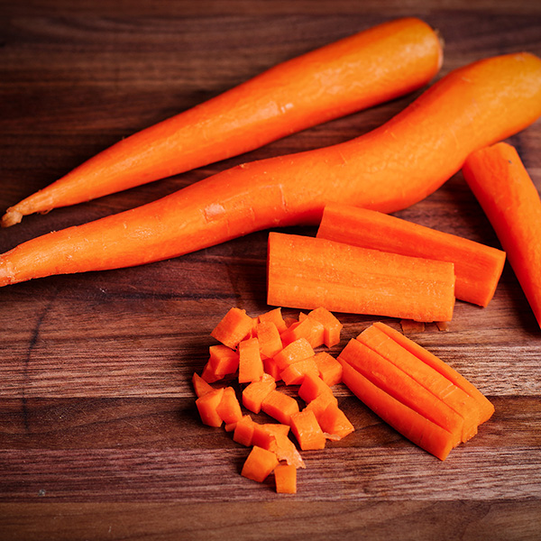 Chopping a carrot