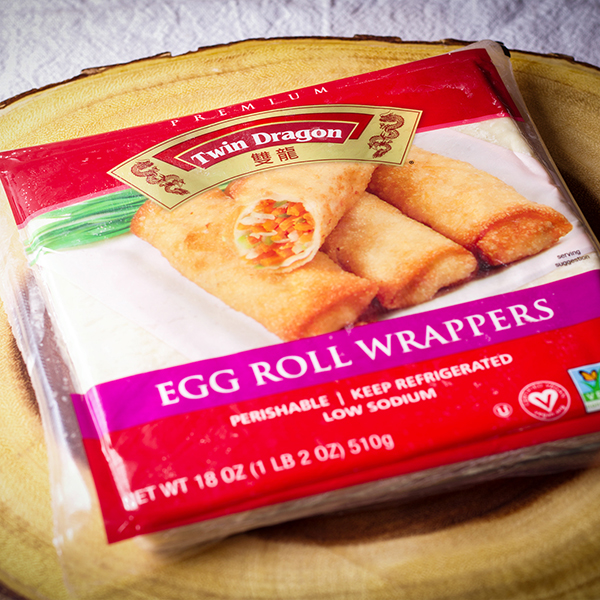 A package of Twin Dragon Egg Roll Wrappers