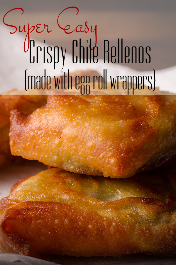 A plate of crispy chili rellenos made with wonton wrappers and filled with Green Chiles and cheese.